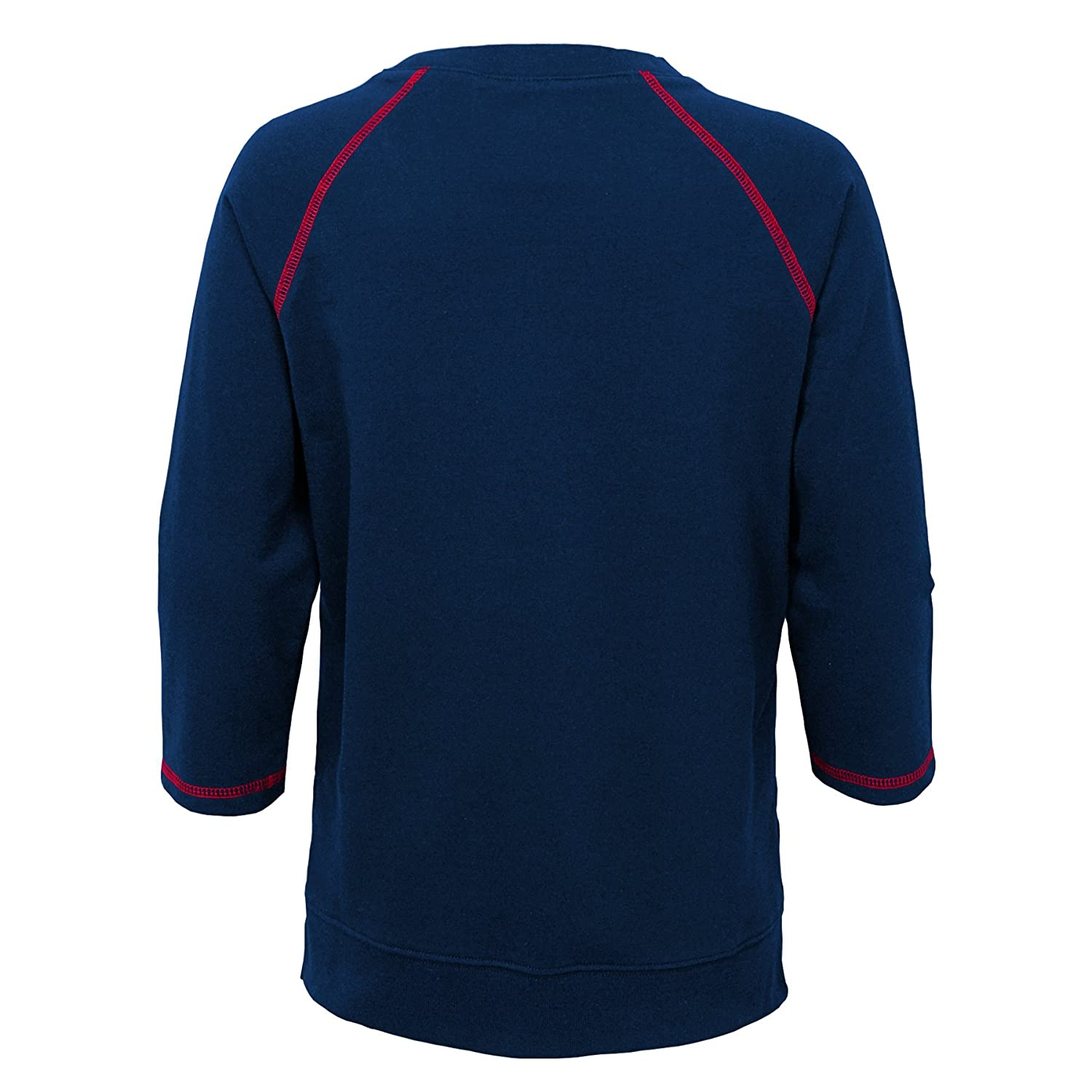 NFL New England Patriots Youth Boys Overthrow Pullover Top Dark Navy 14 Youth Large