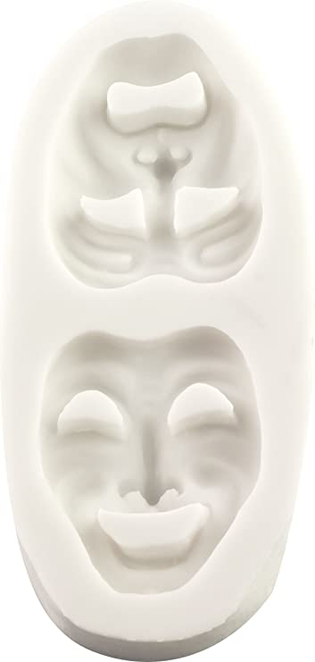 2 on 1 COMEDY//TRAGEDY MASK chocolate mould//moulds//theatre//actor//actress//drama