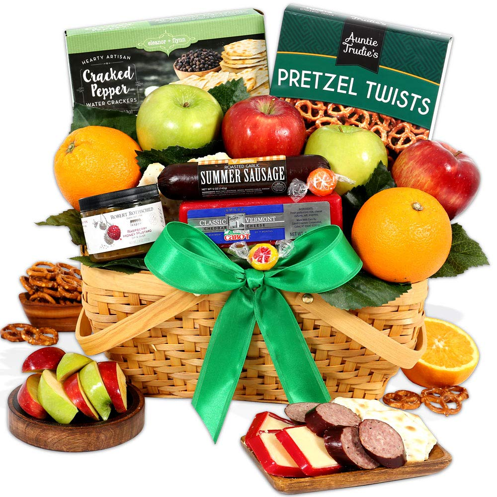 GourmetGiftBaskets.com Picnic Fruit Basket - Gourmet Gift Baskets Prime - Fruit Baskets - Food Gift Baskets Prime Delivery - Birthday, Christmas, Sympathy, Men, Women, Family by GourmetGiftBaskets.com (Image #1)