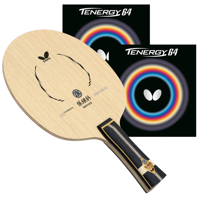バタフライZhang Jike ZLC FLブレードwith Tenergy 64 2.1レッド/ブラックRubbers pro-lineテーブルテニスラケット   B06X9PL863