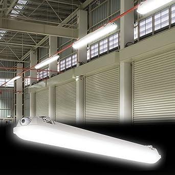 LED Wannen Decken Leuchte Industrie Hallen Nass Raum Werkstatt Lampe Tages-Licht