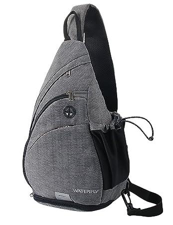 f5a9d88f325bc WATERFLY Sling Rucksack Sling Bag Schulterrucksack Umhängetasche Crossbag  Kamerarucksack mit verstellbarem Schultergurt Perfekt für Outdoorsport