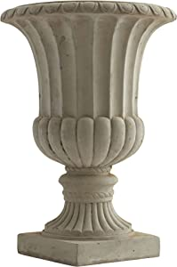 "Nearly Natural 20.25"" Large Sand Colored Urn Indoor/Outdoor) Planter"