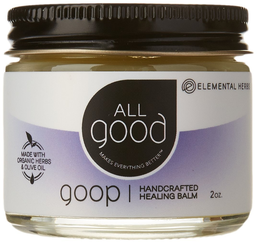 All Good Goop Organic Healing Balm & Ointment | For Dry Skin/Lips, Cuts, Scars, Blisters, Diaper Rash, Insect Bites, Sunburn, & More (2 oz) by All Good