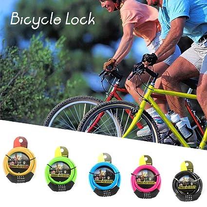 Vvciic Bicicletas de Bloqueo Anti Robo de Bloqueo de Cadenas Mini Plegable de la Cerradura cerraduras