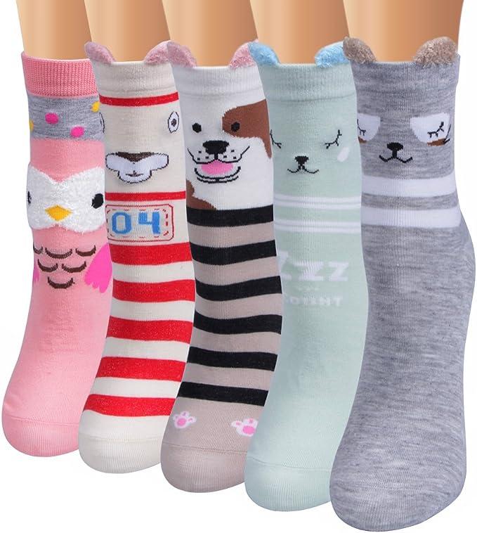 Amazon.com: Ofeily - Calcetines de algodón para mujer ...