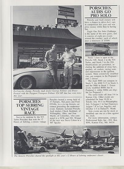 Amazon.com: April 1982 Porsche 906 907 935 924 Audi Quattro Brochure Ickx Holbert: Entertainment Collectibles