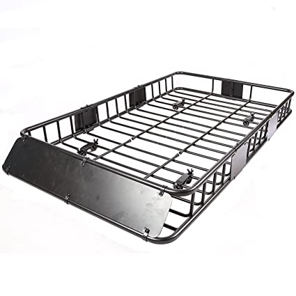 b6882fc08970 Universal Black Roof Rack Cargo with Extension Roof Basket Car Top Luggage  Holder Carrier Basket Travel SUV (64