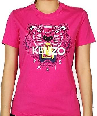 a086b898f Kenzo Women's Pink Tiger Head T Shirt wt White