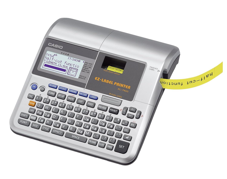 CASIO EZ-Label Printer KL-7400 Beschriftungsgerä t professionell,  fü r Schriftbä nder 6 / 9 / 12 / 18 / 24 mm, inkl. Netzteil Drucker