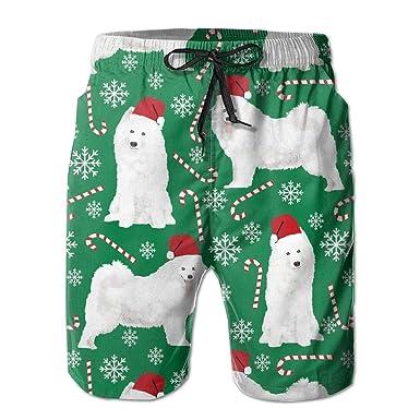 Life Pstore Men Samoyeds Dog Dog Beach Shorts Swimming Trunks Swim Bathing Suit Funny Boardshorts