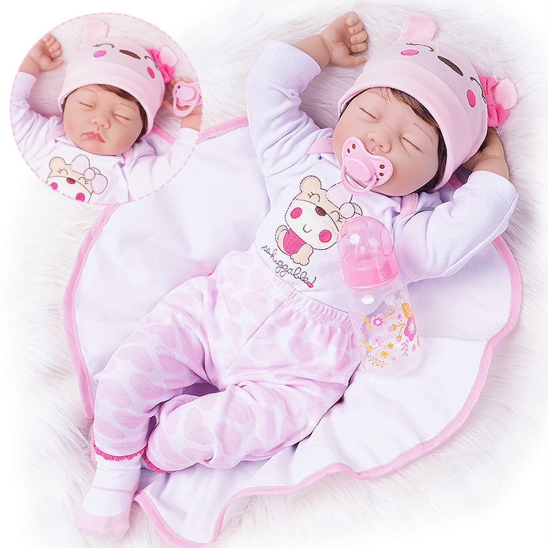 TiaNara Reborn Baby Doll 22 Inch Lifelike Newborn