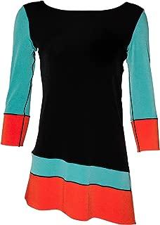 product image for Eva Varro 3/4 Sleeve, Slant Block Tunic, Side Slits