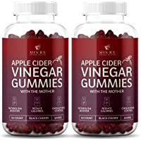 (2 Pack | 120 Gummies) Organic Apple Cider Vinegar Gummies with The Mother - Gummy Alternative to Apple Cider Vinegar Capsules, Pills, ACV Tablets with Delicious Black Cherry Flavor