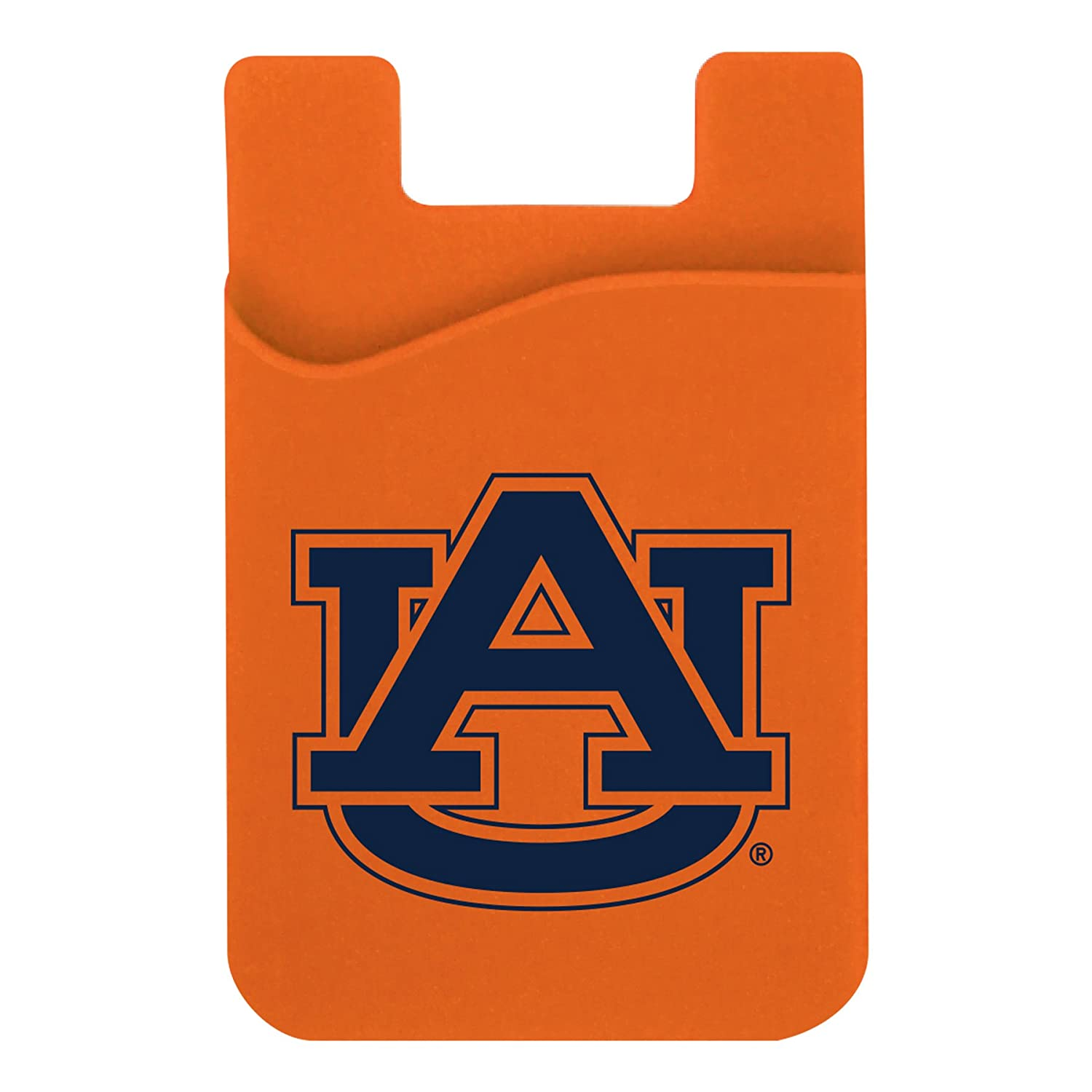navy on orange Neil Varsity Auburn Tigers Cell Phone Card Holder