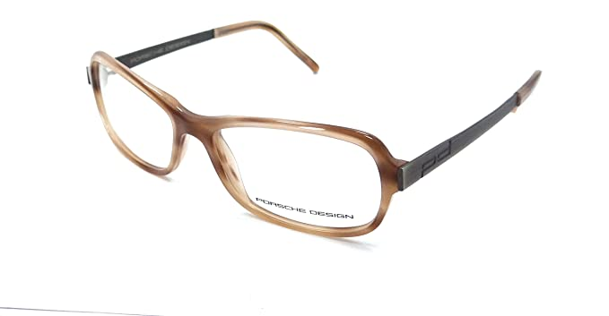 f8fcbb5bc07 Image Unavailable. Image not available for. Color  Porsche Design Rx  Eyeglasses Frames P8207 C 53x15 Light Brown Made in Italy