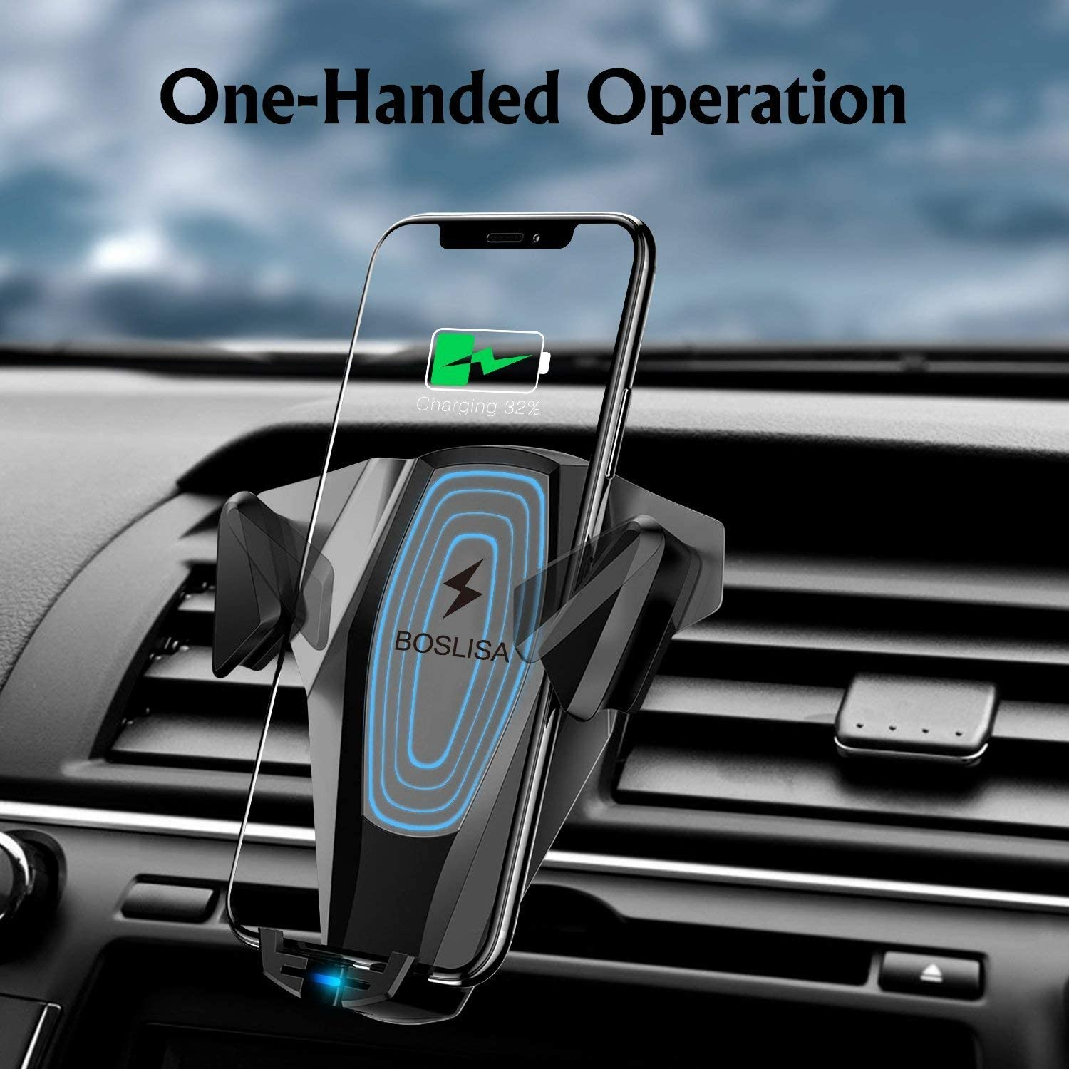 Compatible with iPhone Xs MAX//Xs//XR//X//8Plus//8 10W Qi Fast Charging Air Vent Phone Holder Compatible with S10Plus//S10//S9Plus//S9//S8Plus//S8 etc. Car Mount Gorilla Gadgets Wireless Car Charger