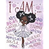 I Am: Empowering Coloring Book for Black and Brown Girls with Natural Curly Hair | Positive Affirmations for African American
