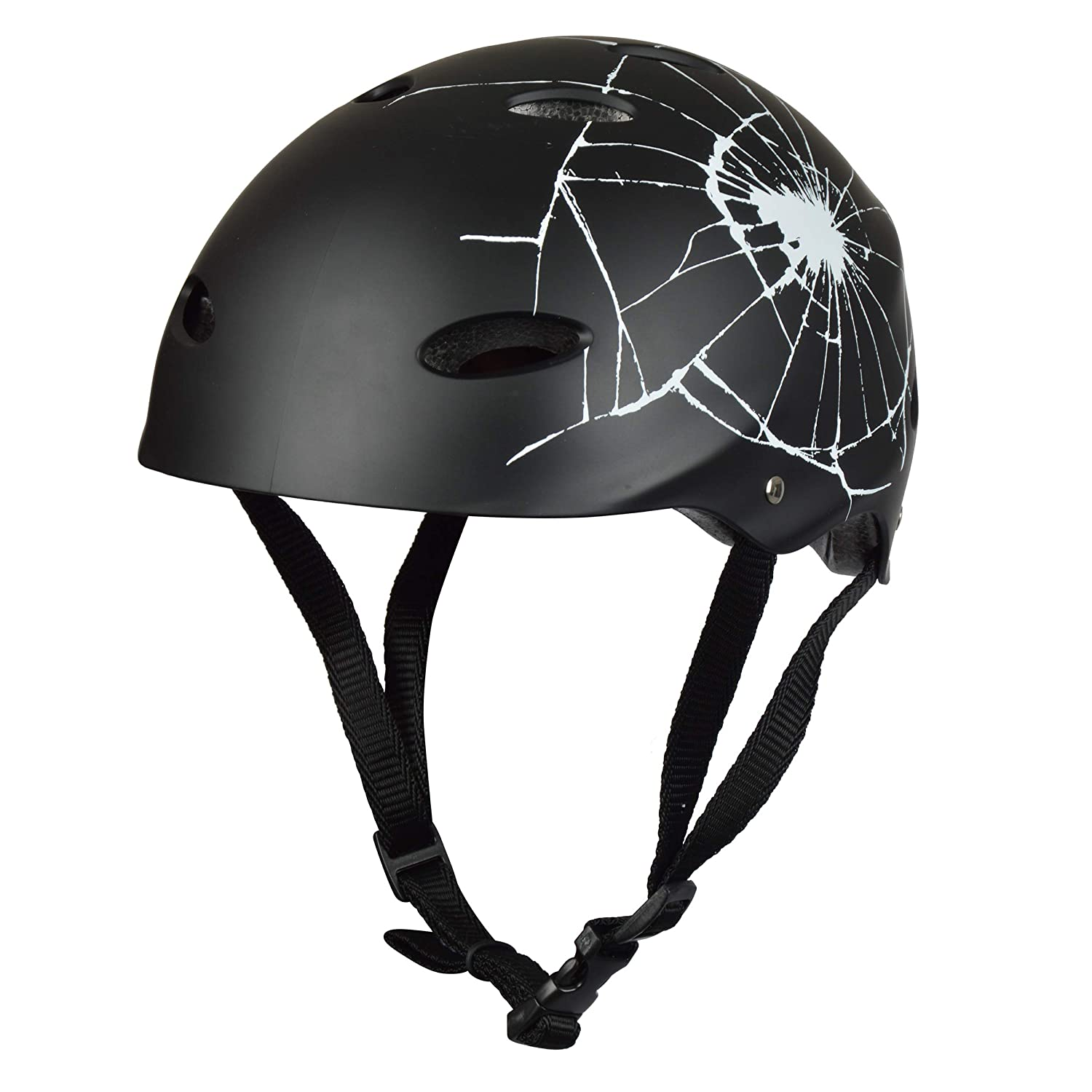 Apollo Skate and Bike Helmets - Adjustable Helmet for Skateboarding, Scooters, BMX, etc. with Adjustable Wheels, Suitable for Children, Adults - in Different Sizes and Colours