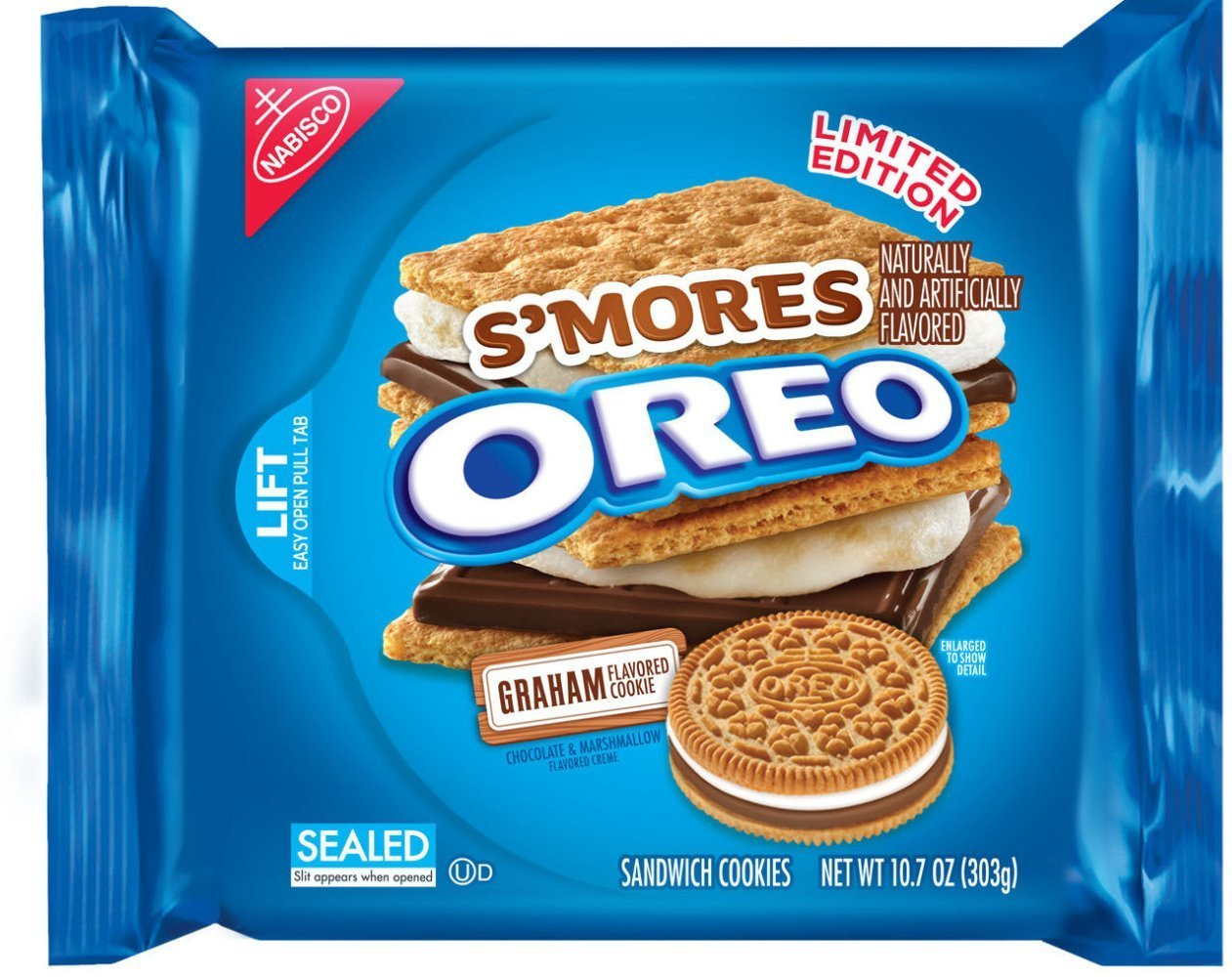 Nabisco Limited Edition Smores Oreo Cookies, 10.7 Ounce (Pack of 2) by Oreo