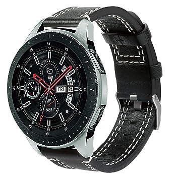 Correa de Repuesto para Reloj Inteligente Samsung Gear S3 Frontier/Classic by/Galaxy Watch de 46 mm, Correa de Piel Mate: Amazon.es: Hogar