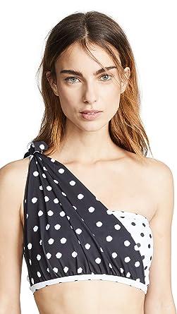 45f7a7e1a2 Beth Richards Women's Knot Bandeau Bikini Top, Dot Mix, Black, White, Print