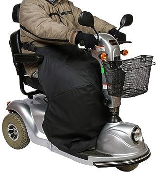 mobilex térmicos de rodillas - Manta para silla de ruedas y Scoot conductores, Negro, protector para pata de techo para proteger inferior del cuerpo.