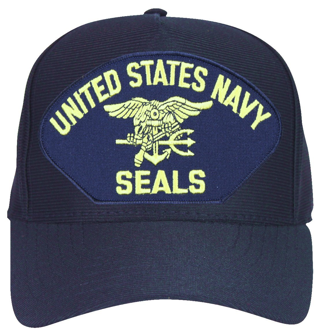 83faf2d6bf3 Amazon.com  MilitaryBest United States Navy Seals with Trident Ball Cap  with Custom Back Text  Sports   Outdoors