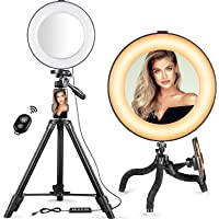 BRITOR Selfie Ring Light - 14 Colors RGB Ring Light with 2 Adjustable Tripod Stand/Phone Holder/Camera Remote Shutter…