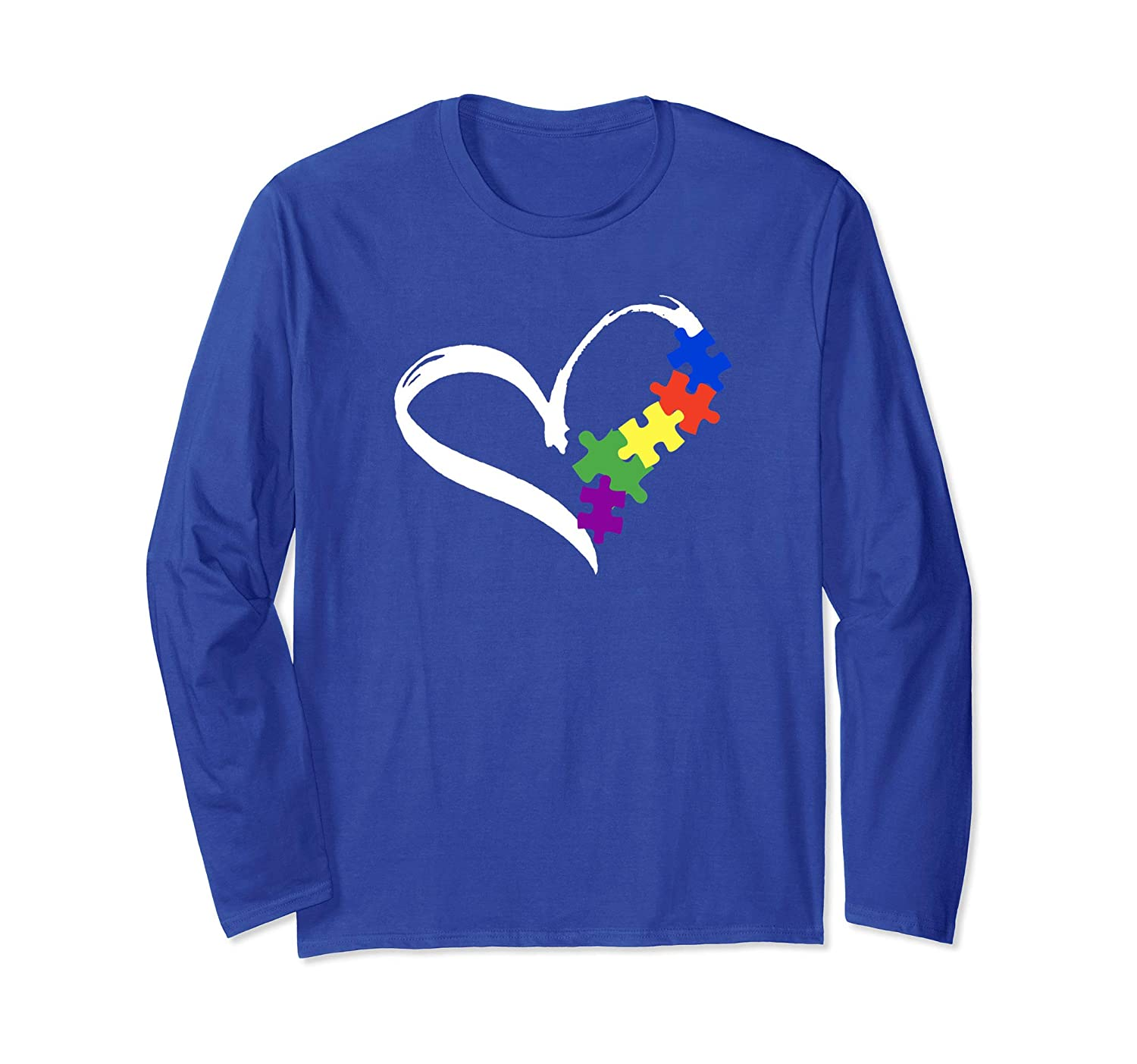 Autism Puzzle Long Sleeve T-Shirt Love Long Sleeve women men-Yolotee