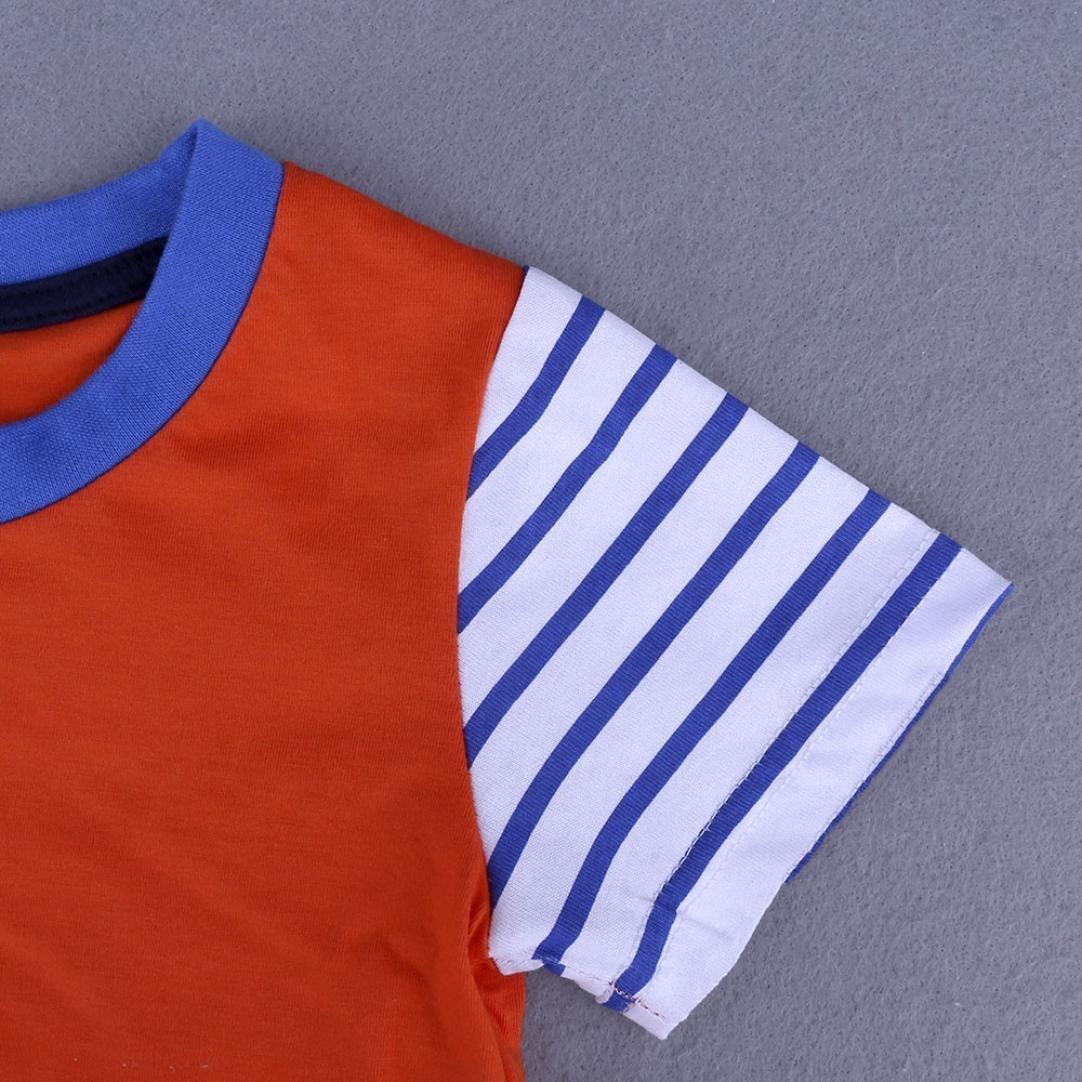 12-18 Month, Light Blue Webla Baby Boys Girls Kids Cartoon Print Summer Tops T Shirts for 1-6 Years Old