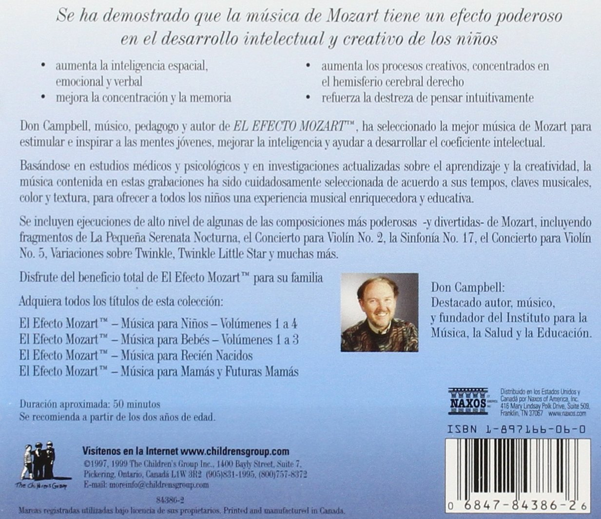 Efecto Mozart: Musica Para Ninos 1 / Various by Alliance