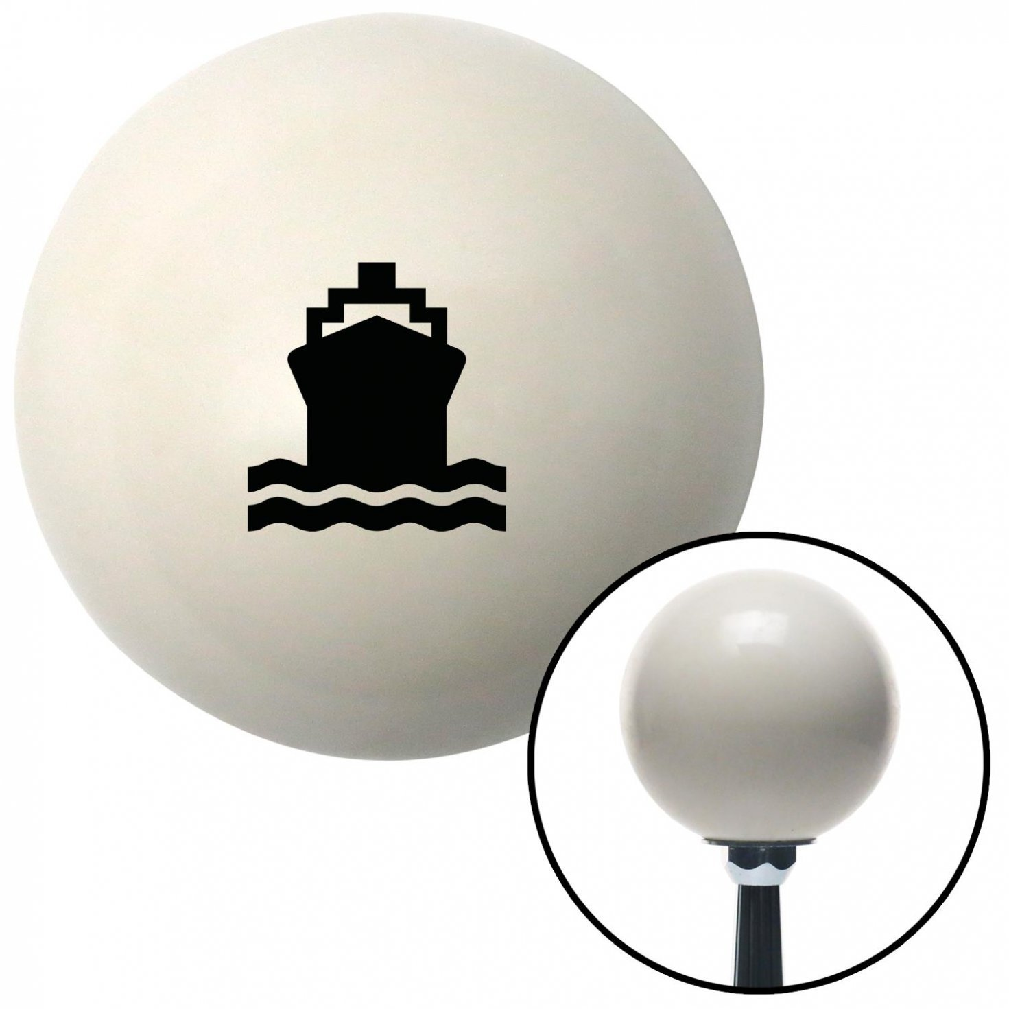 American Shifter 34501 Ivory Shift Knob with 16mm x 1.5 Insert Black Cruise Ship