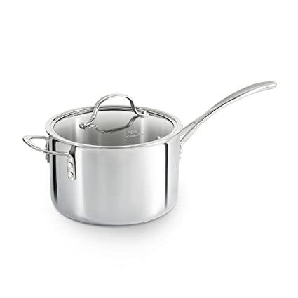 Amazoncom Calphalon Tri Ply Stainless Steel Cookware Sauce Pan 4