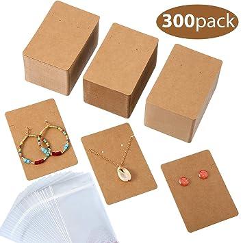 Amazon.com: 300 tarjetas de presentación para collar y ...