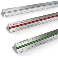 """Arteza 12"""" Inch Triangular Architect Scale Aluminum Color-Coded Grooves (Imperial)"""