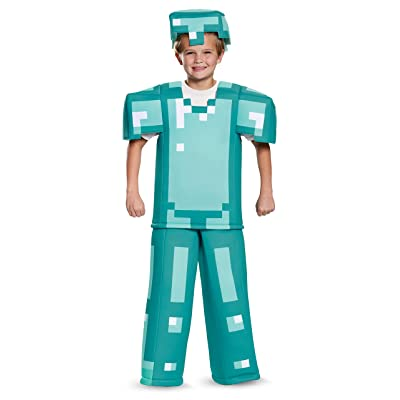 Armor Prestige Minecraft Costume, Multicolor, Medium (7-8): Toys & Games