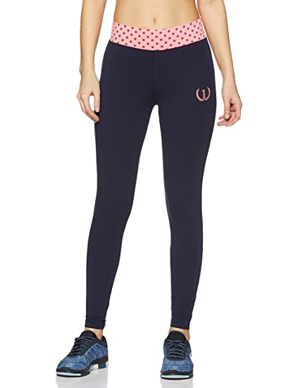b2b9bae04 ONESPORT Women s Cotton Spandex Jersey Navy + Pink Tights(ONSP6NP-P ...