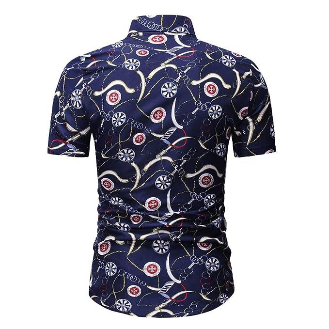 BBsmile Ropa de hombre Camisas de Hombre Estampadas Primavera Verano Camiseta Hombre Manga Corta Basica: Amazon.es: Ropa y accesorios