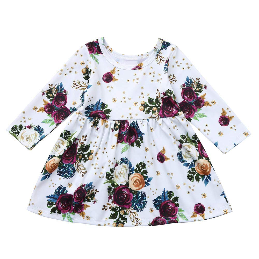 Amazon.com: Toddler Baby Girls 6 Months-4T Long Sleeve Floral ...