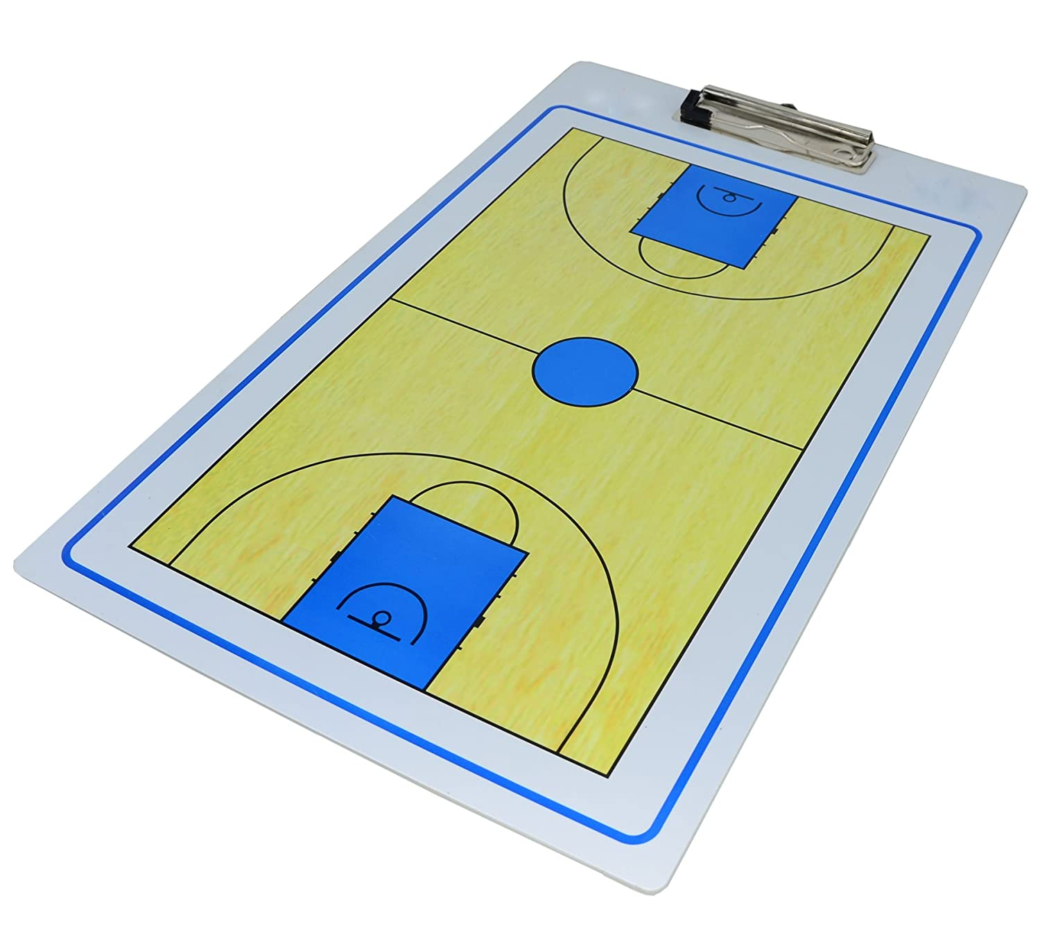 Dry-Erase Double Sided Basketball Tactics Coaching Board Clipboard ZSB1 (Color1) Spomei