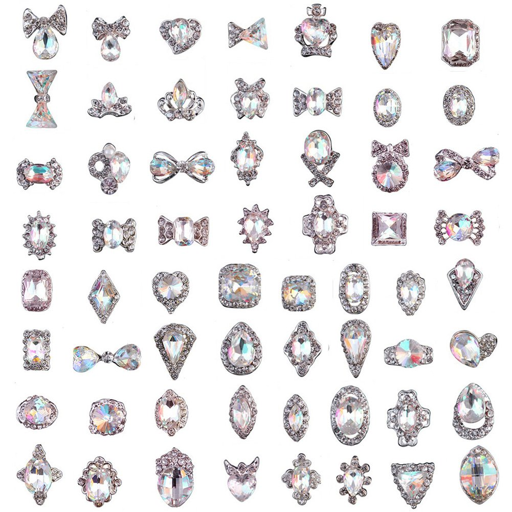 48Pcs Crystals Jewelry Diamond Charms Gems Stones Rhinestones for Nails UV Gel Nail Decor Accessories DIY Crafts JuanYa