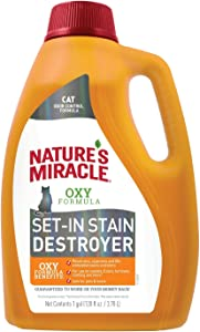 Nature's Miracle Just for Cats Orange Oxy Stain and Odor Remover, 24-Ounce (308139)