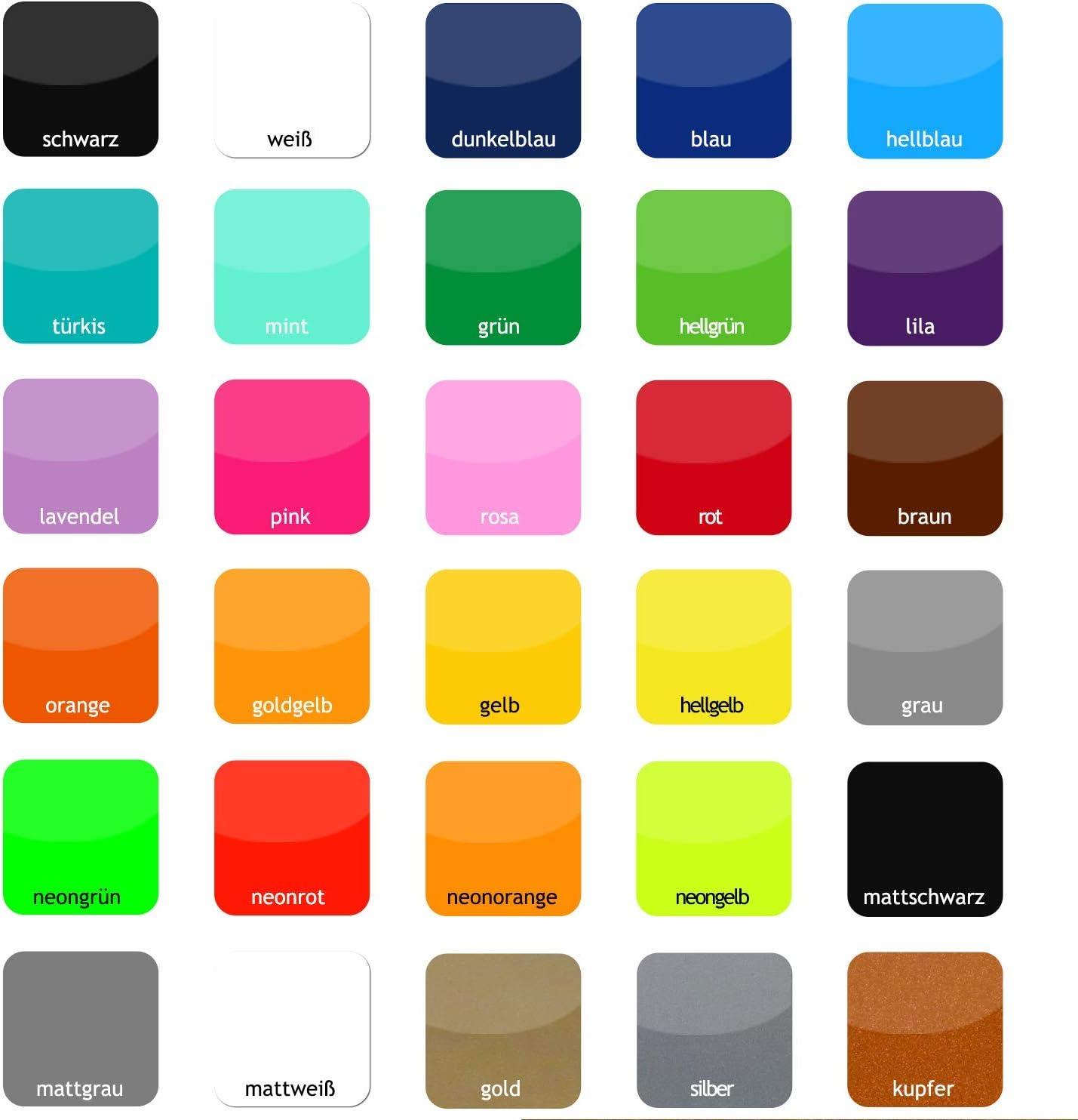 foliado/® Hausnummer Familie Name Briefkasten selbstklebender Aufkleber Milchglasfolie oder farbige Folie f/ür Haust/ür Glasdekor Namensschild Gr/ö/ße bis 15 cm #APD-016