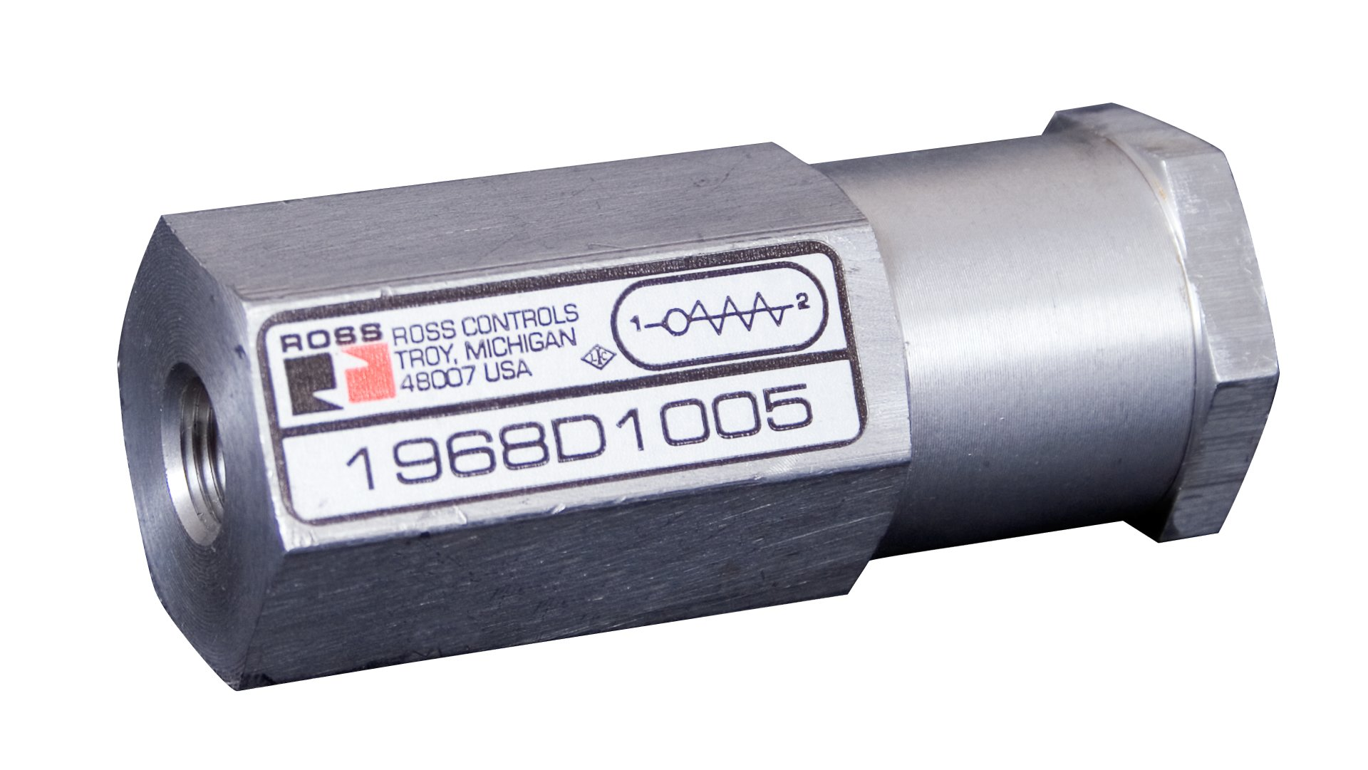 Ross Controls 1968D2005 19 Series Check Valves, Low Profile, Standard Capacity, Inline, 1/4 NPT