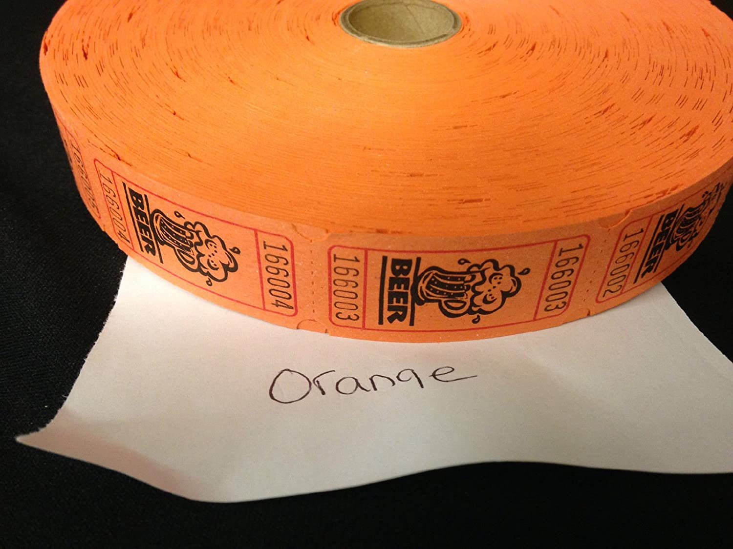 Orange Beer Ticket Roll