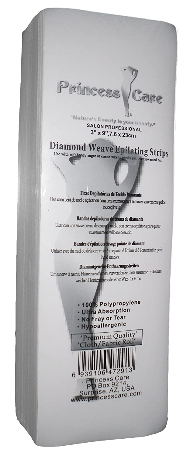 Amazon.com : Princess Care Diamond Weave Epilating Fabric Wax Strips Large 100 Pack (3