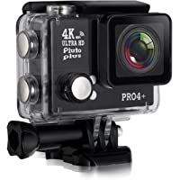 Pluto Plus Action Camera Pro4 Plus 20 MP Camera with 4x Digital Zoom and Ultra HD Video
