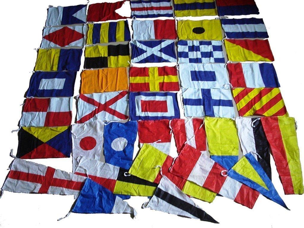 Marine Product - Nautical Sailboat Boating Signal Code Flag - 100% Cotton -Set of Total 40 Flags 5X-MQHE-6UGI