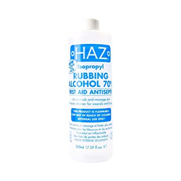 Haz 500 ml Isopropyl Rubbing Alcohol First Aid Anti Septic